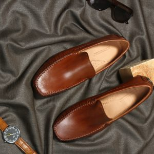 The new london tan loafers driving for men shoes leather by lederwarren