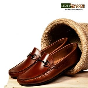 New London Tan Buckle Loafers