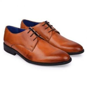 Derby Tan Formal Shoes