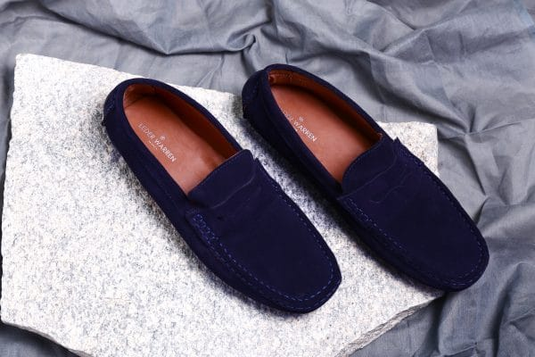 Navy Blue Penny Loafers