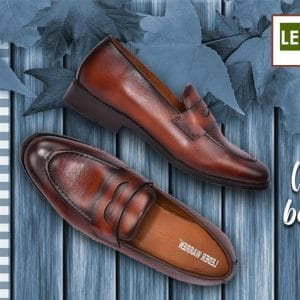 Figo Brown Penny Loafers