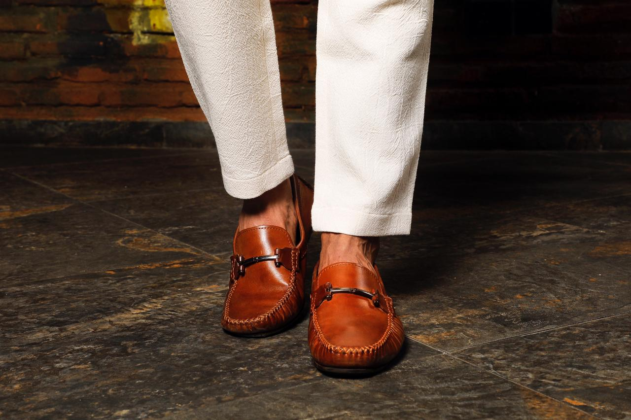 Buckle Tan Loafers