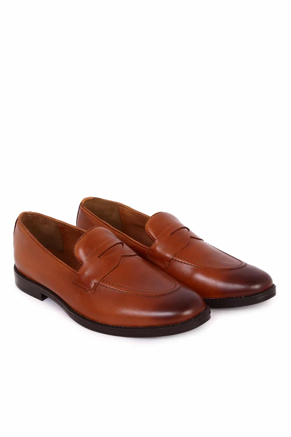 Tan Penny Casual Shoes